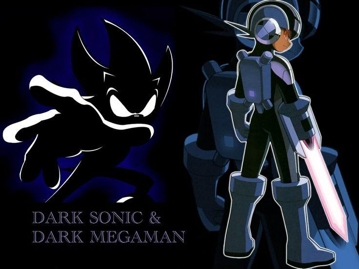 Nintnedo Fall Wallpapers Dark Sonic Vs Dark Megaman Megaman Amp Sonic Pinterest