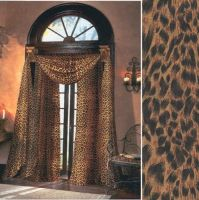 Leopard Sheer Curtains, 59 inches wide by 84 inches long ...
