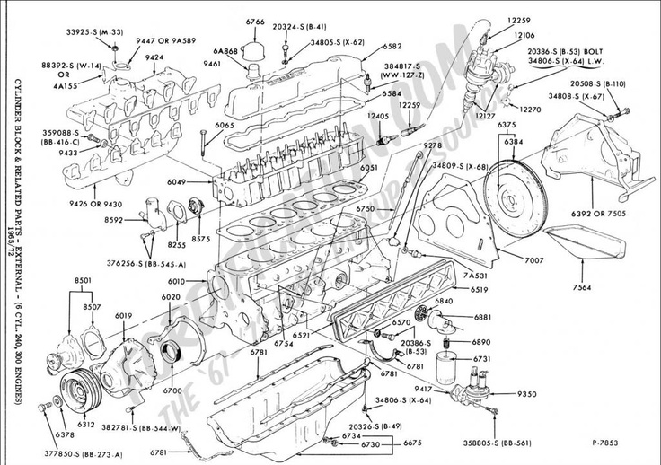 ford 4 9l engine diagram