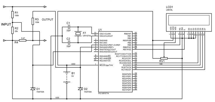 schematic diagram of a multizone expandable modular burglar alarm