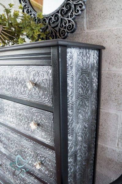 25+ Best Ideas about Wallpaper Dresser on Pinterest | Shabby chic bookcase, Brown kitchen ...