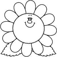 Imagenes De Flores Animadas Para Colorear Dibujos Animados De