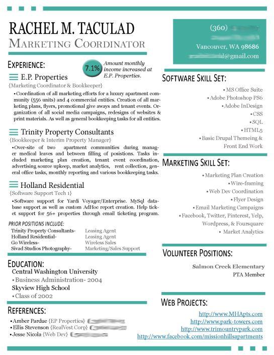 modern resume examples digital marketing