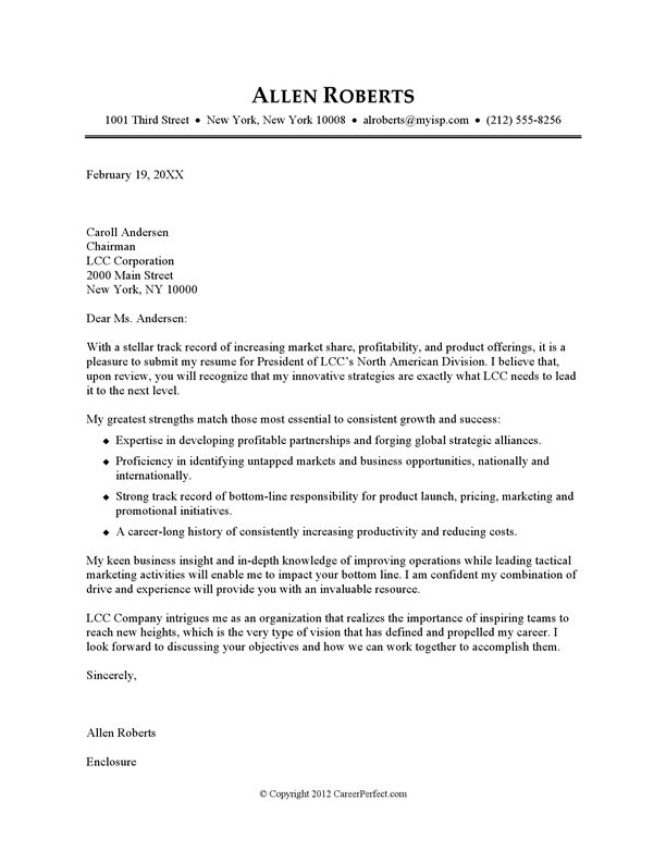 Example Cover Letter For A Resume Always Use A Convincing - resume and cover letter example