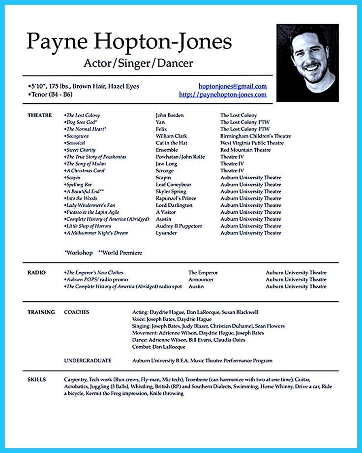 how to make a theatre resume hitecauto - musical theatre resume examples