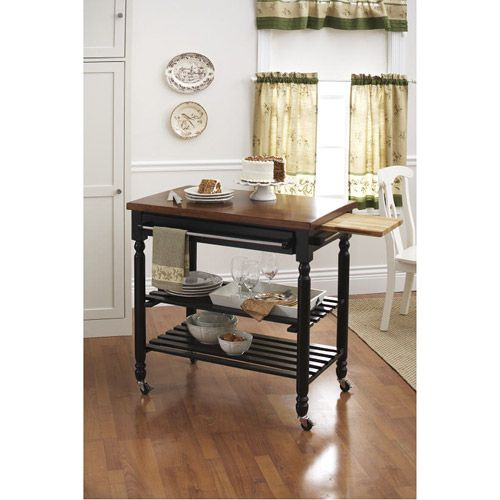 Better Homes And Gardens Kitchen Island Cart Bhg Rolling Butcher Block Cart From Walmart....of All