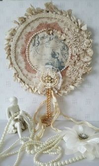 25+ best ideas about Shabby chic wreath on Pinterest