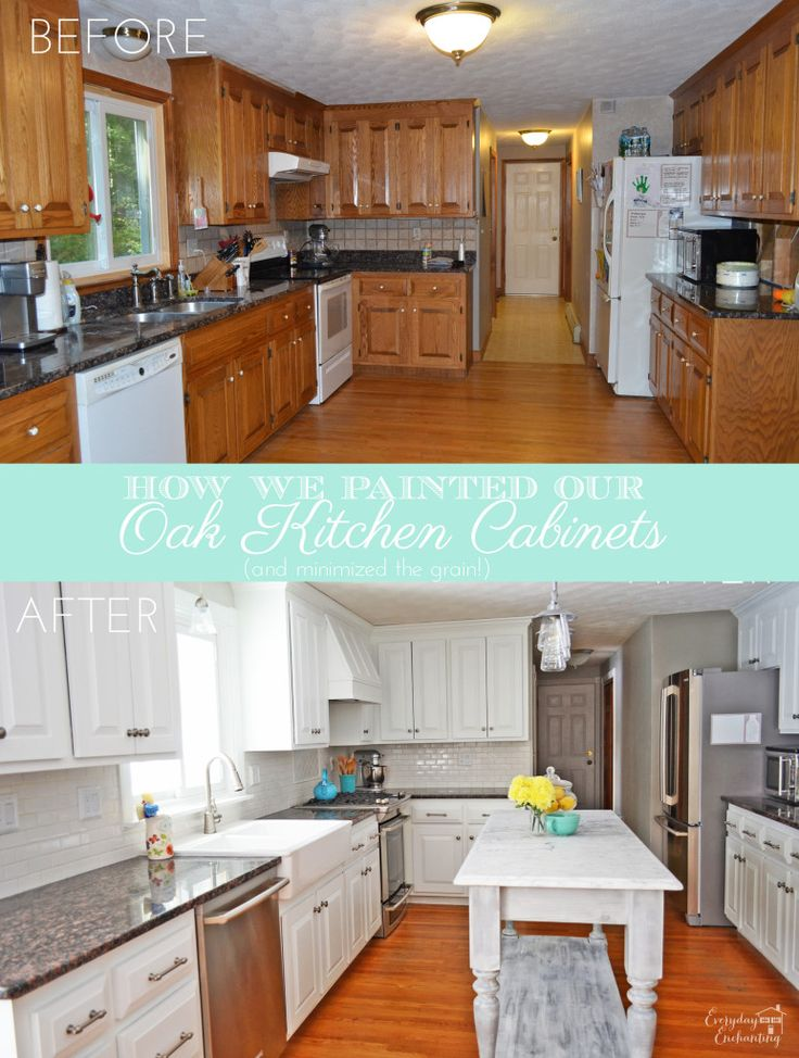 1000+ Ideas About Painted Oak Cabinets On Pinterest | Painting Oak