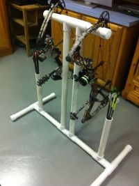 PVC bow stand with quiver.