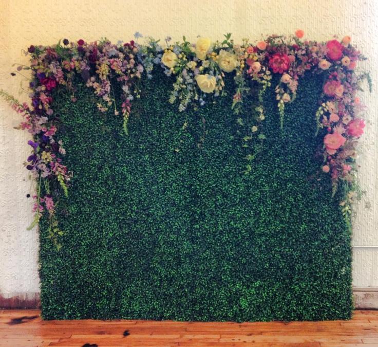 paper flower backdrop rental