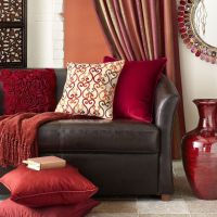 Brown And Cranberry Living Room - Modern home design ideas