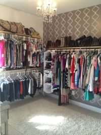 Extra bedroom turned into walk-in closet... this is what I ...
