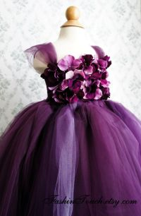 Purple Toddler Flower Girl Dresses