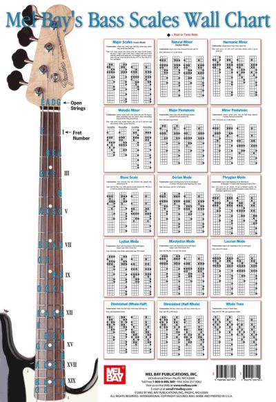 Bass Scales Wall Chart - Gif file | Bass Board | Pinterest | Videos, Guitar chord chart and Charts