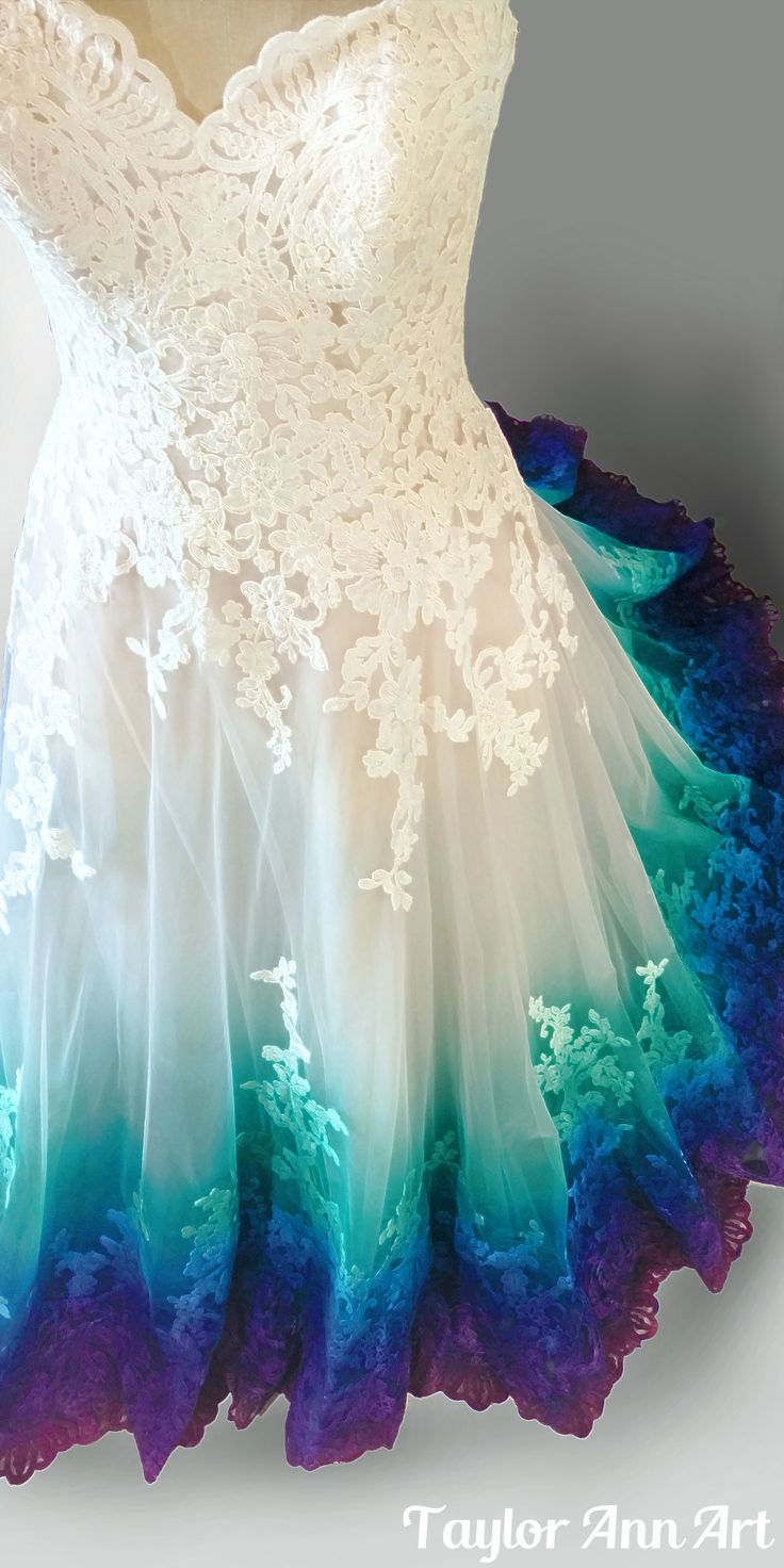 fairy wedding dress colorful wedding dresses Find this Pin and more on Wedding Dresses