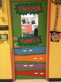 Ninja Turtle Turtle Power Door for my classroom | {Things ...