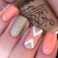 Best 20+ Peach Nail Art ideas on Pinterest | Peach colored ...
