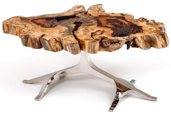 Urban Sofa Live Edge Tree Of Life Coffee Table - Base Shown With Polished