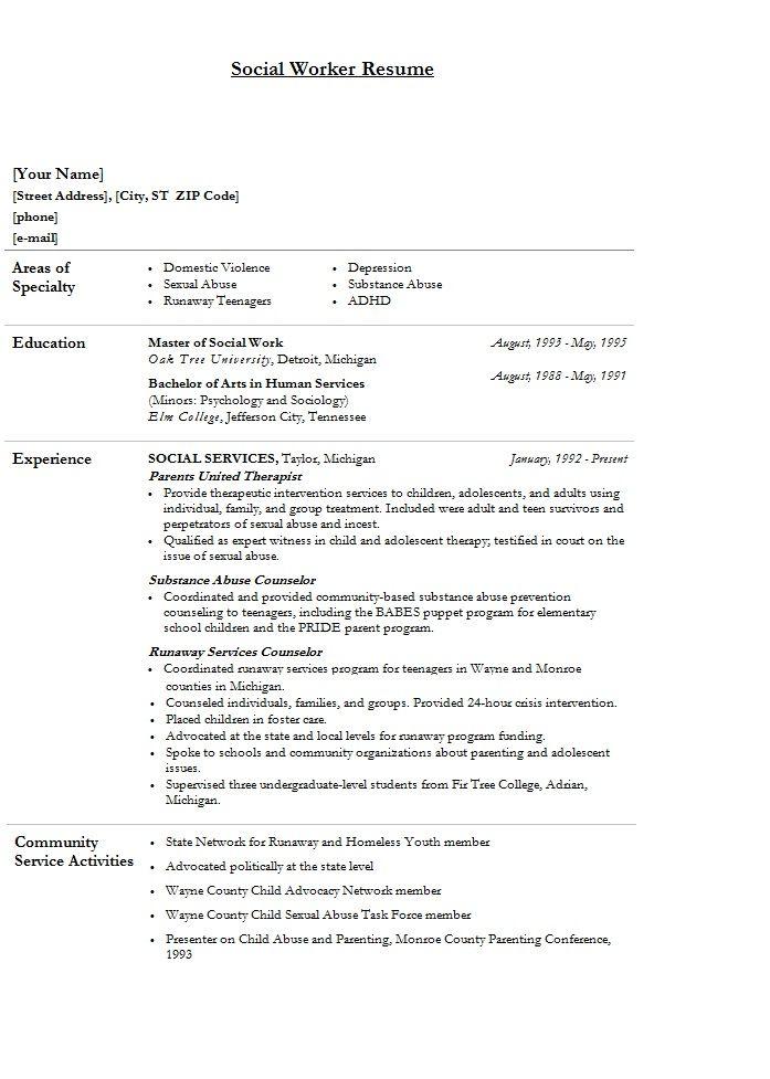sample lmsw resume