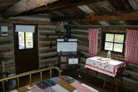 one room primitive cabin interiors