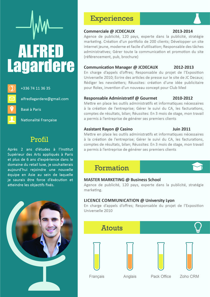 cv scientifique