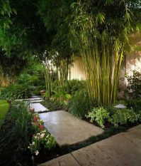 Tropical Backyard ~~ With an in-ground barrier, you could ...
