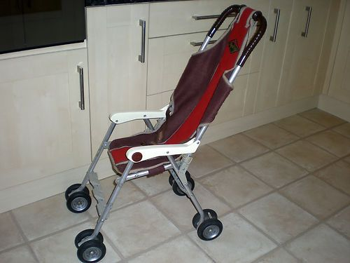 Baby Annabell Buggies Vintage Pushchair Cindico 70s Retro Buggy Pram Full Size