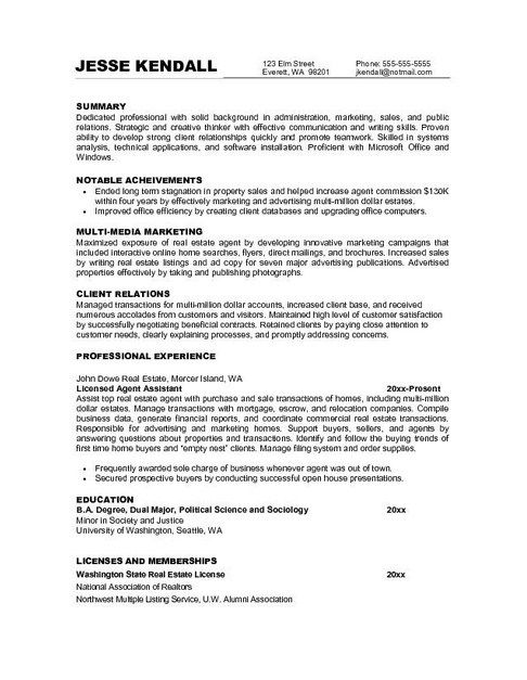 resume objective statement examples for marketing