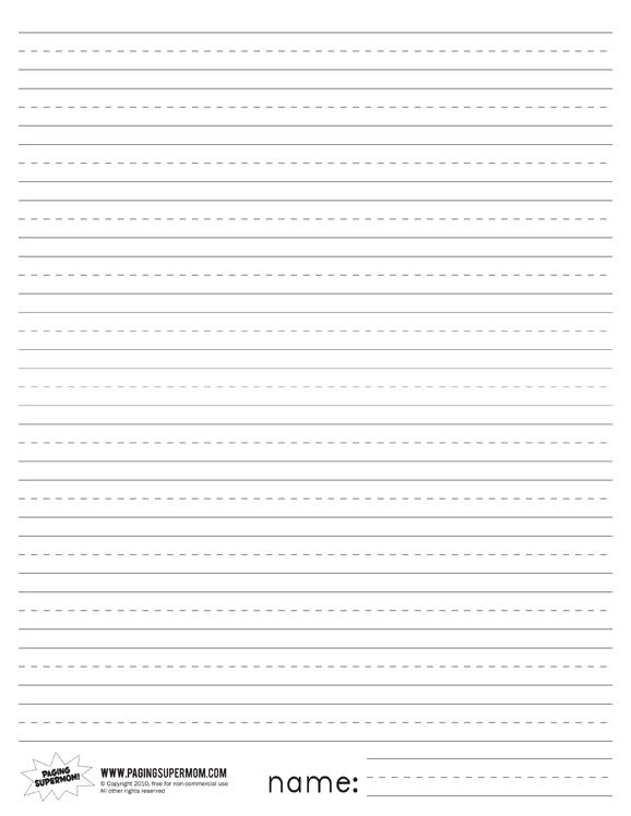 Printable lined writing paper with picture space A good thesis - sample lined paper