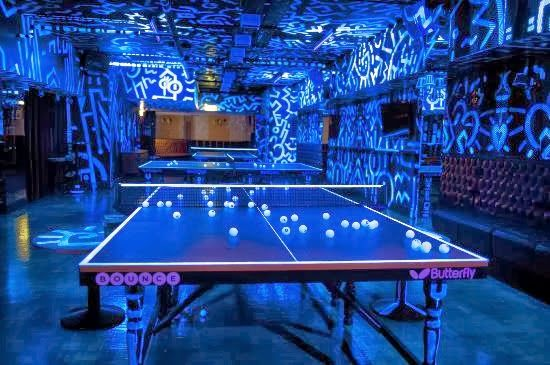 Bounce Bar Glow In The Dark Ping Pong Bar In Holburn