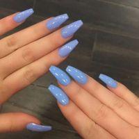 25+ best ideas about Sky blue nails on Pinterest   Pretty ...