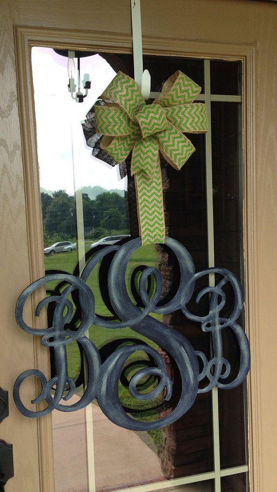 3 letter monogram door hanger