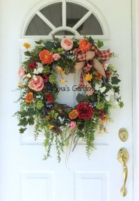 25+ best ideas about Country wreaths on Pinterest   Burlap ...