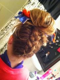 17 Best ideas about Braided Cheer Hair on Pinterest ...