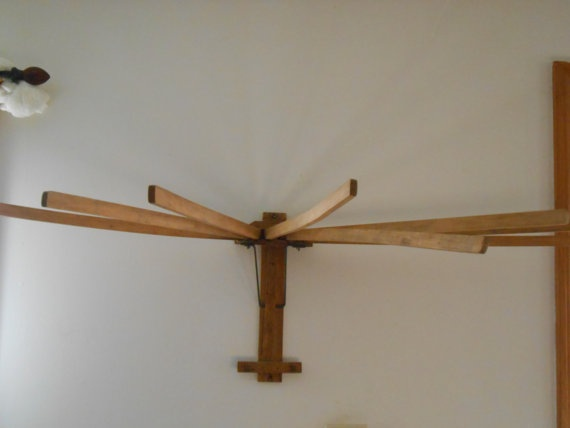 Antique Wooden Wall Mounted Drying Rack Antiques Drying