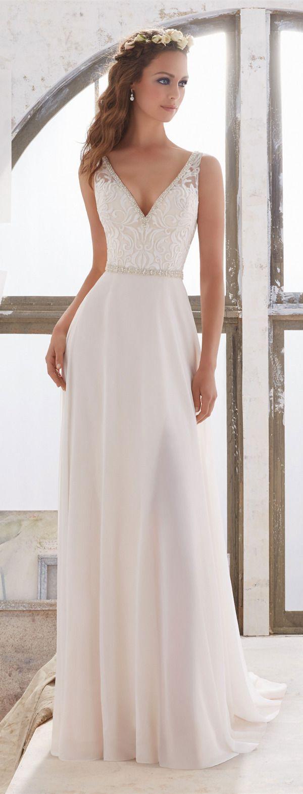 wedding dress simple simple elegant wedding dress Morilee Madeline Gardner Wedding Dresses Collection Simple DressesElegant