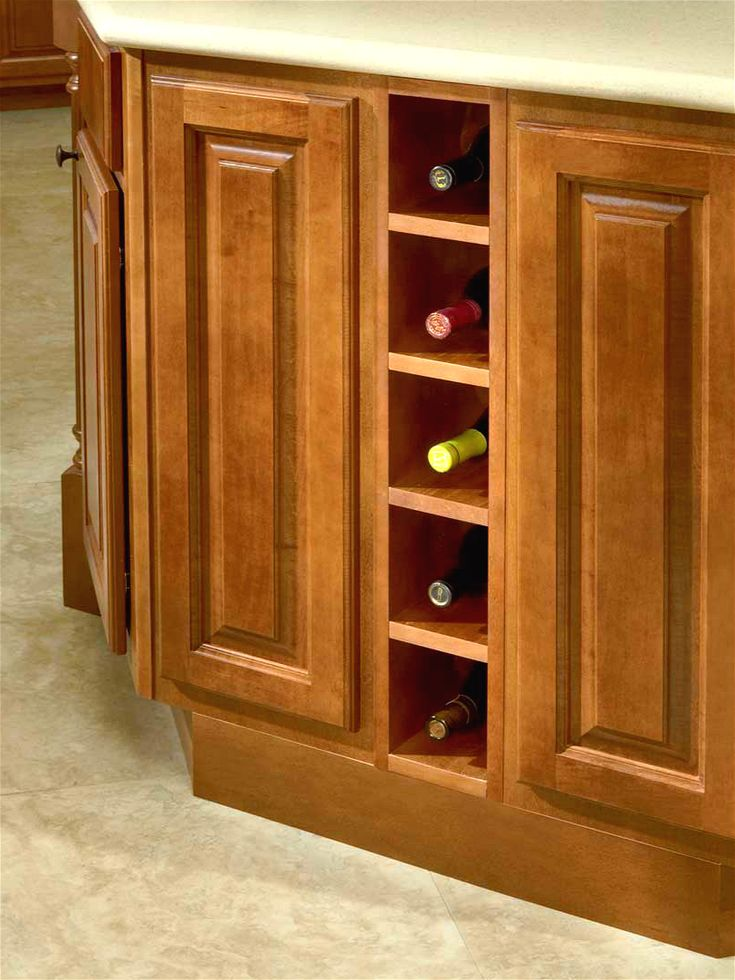 Big Island Kitchen Design Base Wine Rack, Modified By Base Spice Rack 6"