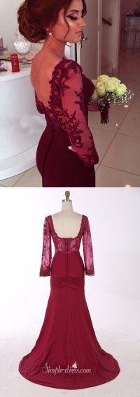 Meer dan 1000 ideen over Maroon Prom Dress op Pinterest ...