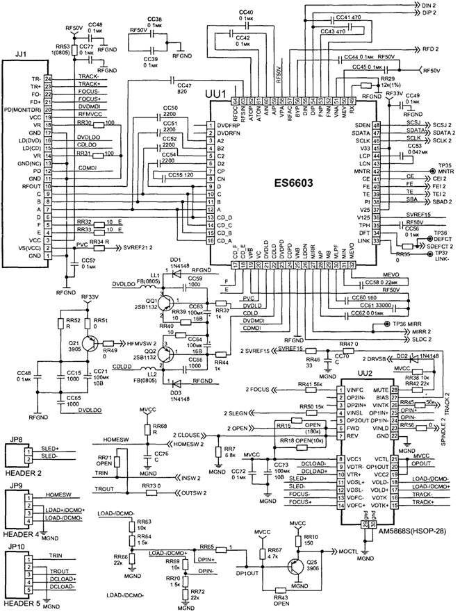 automatic dual output display circuit diagram