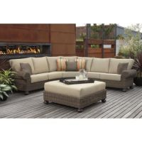 Costco: Pacific Casual Jakarta 4-piece Woven Sectional Set ...