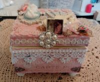 Shabby Chic altered wooden box | My Projects | Pinterest ...