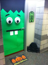 College Dorm Room Halloween Door Decorating | Dormtastic ...