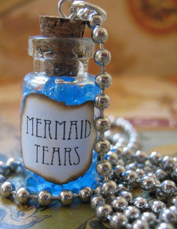 Glowing Girl Wallpaper Mermaid Tears 1ml Glass Bottle Necklace Charm Mermaid S