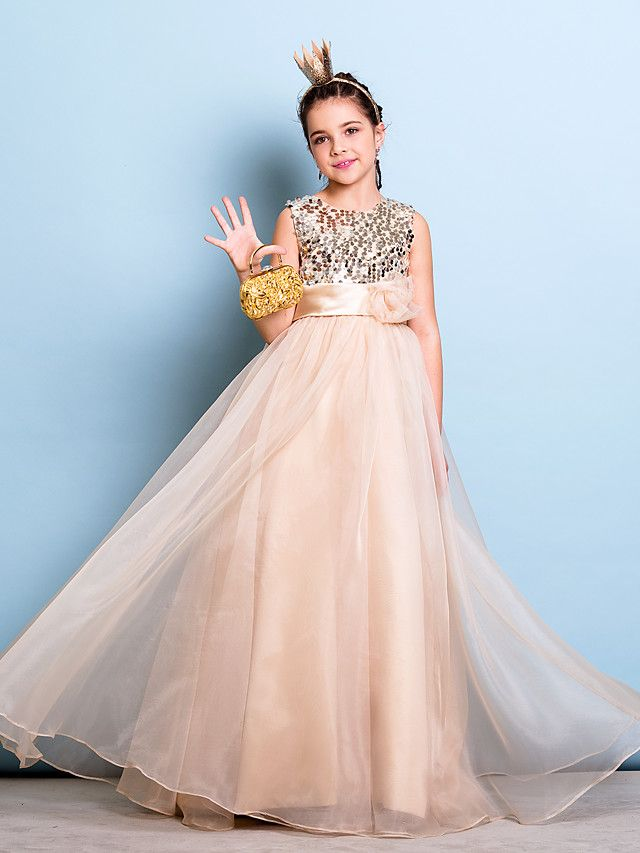 3 Suisses Enfants Lanting Bride® Floor-length Organza / Sequined Junior