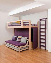 Lit mezzanine avec rangement adulte  Table de lit