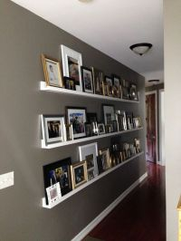 Gallery Wall for a Long Hallway | Photo ledge, Hallways ...