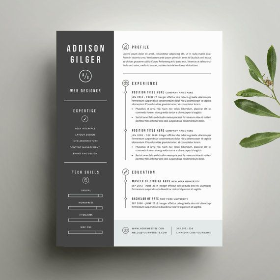 cv cover page design word