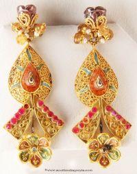 Gold Designer Earrings from Senthil Murugan Jewellers | UX ...