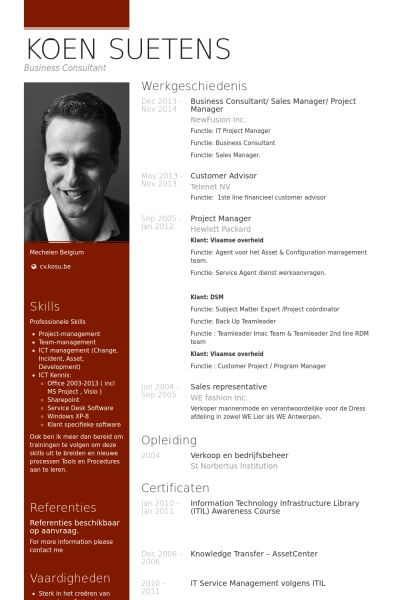web project manager resume sample