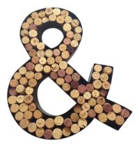 """Monogram Letter & (""""And"""" Symbol) Wall Wine Cork Holder in ..."""